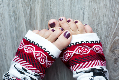 Christmas pedicure I